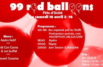 99 RED BALLOONS – Fête d'unité