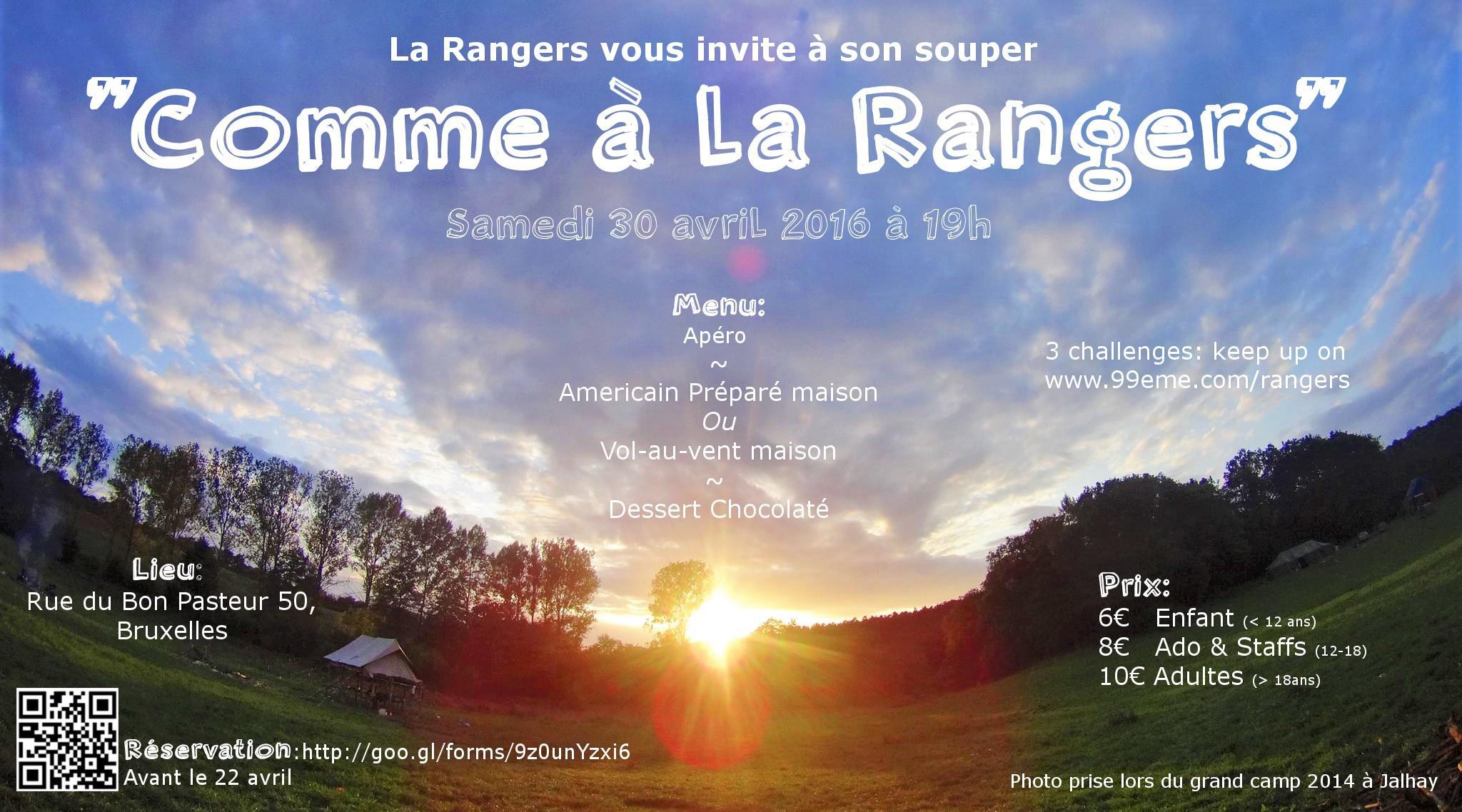 Affiche souper Rangers 2016
