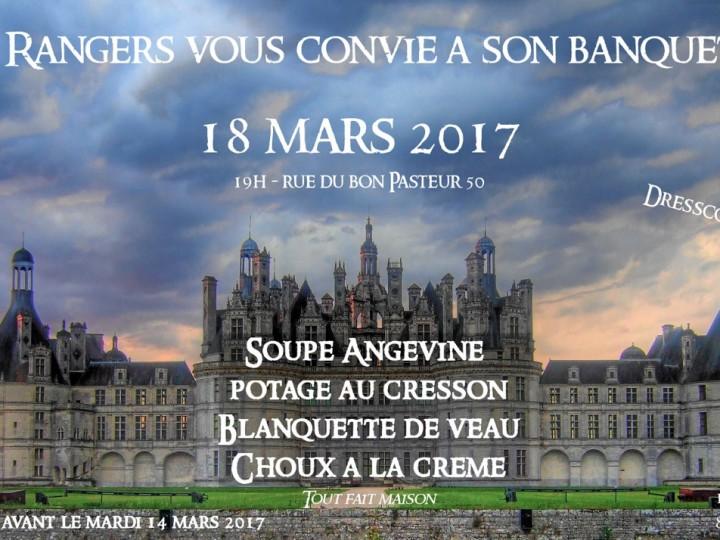 BANQUET de la Sainte Troupe Rangers