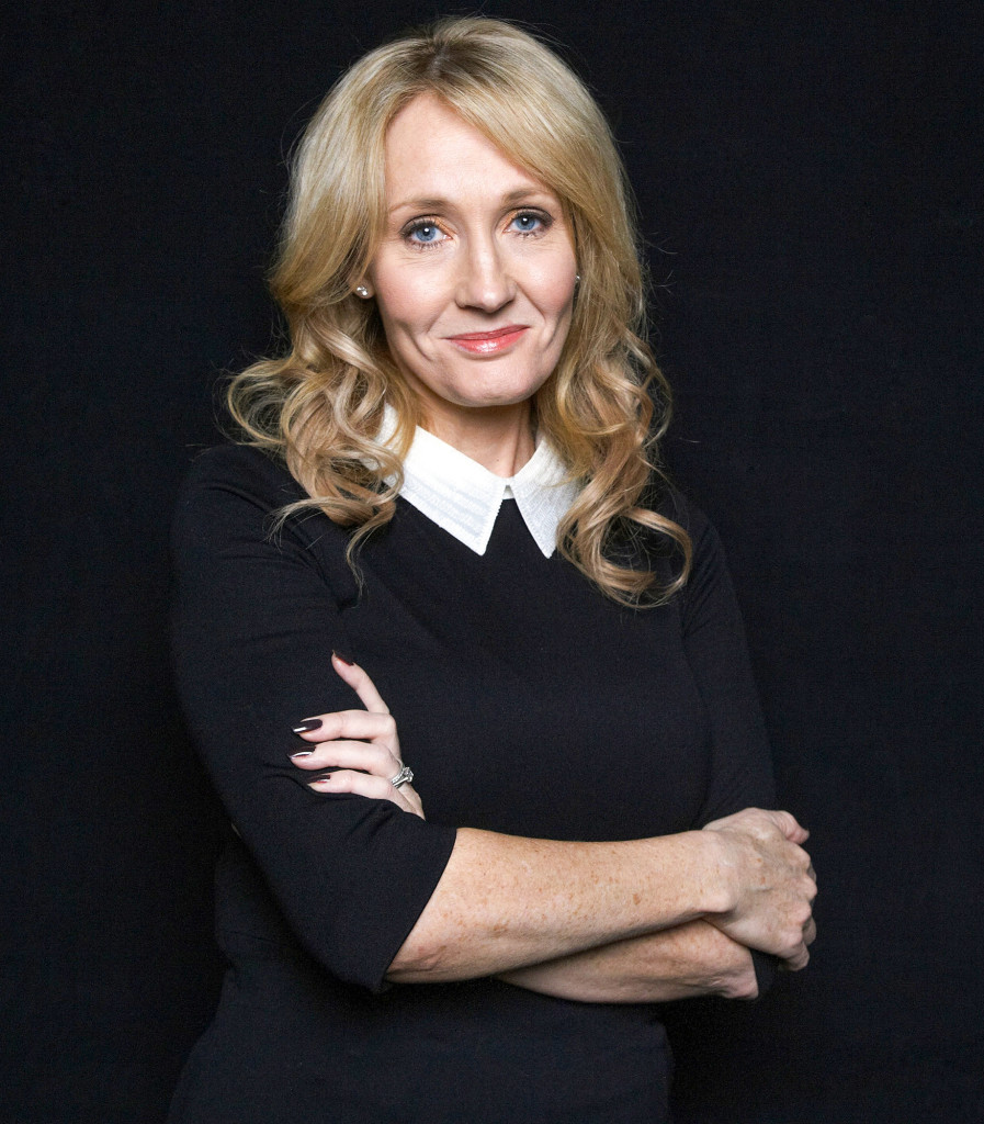 "FILE - This Oct. 16, 2012 file photo shows author J.K. Rowling at an appearance to promote her latest book ""The Casual Vacancy,"" at The David H. Koch Theater in New York. Rowling has added a subtle comment under her pen name Robert Galbraith about the standoff between her publisher and Amazon.com. Amazon is in a contract dispute with Rowlingís U.S. publisher, Hachette Book Group, and is not accepting pre-orders for ìThe Silkwormî and other Hachette releases. (Photo by Dan Hallman/Invision/AP, File)"